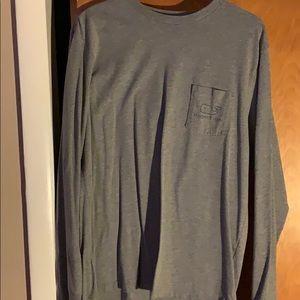 VV grey long sleeve whale shirt